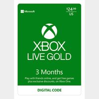 Xbox Live 3 Month Gold Membership 🇺🇸 [Digital Code] expires Oct/29/2020