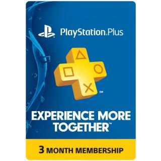 PlayStation Plus - 3 Months (US)🇺🇸 [Digital Code]