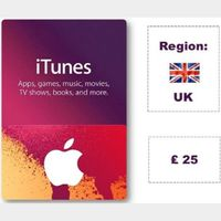 £25.00 iTunes UK Apple Store Giftcard 🇬🇧