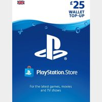 £25.00 Playstation Store 🇬🇧 Key/Code UK Account [𝐈𝐍𝐒𝐓𝐀𝐍𝐓 𝐃𝐄𝐋𝐈𝐕𝐄𝐑𝐘]