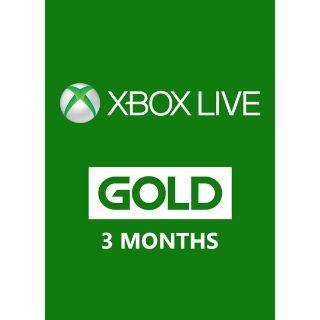 Xbox Live Gold – 3 Month Membership [Europe Region]