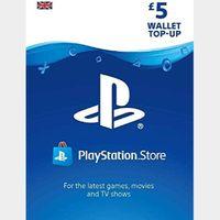 £5.00 Playstation Store 🇬🇧 Key/Code UK Account [𝐈𝐍𝐒𝐓𝐀𝐍𝐓 𝐃𝐄𝐋𝐈𝐕𝐄𝐑𝐘]