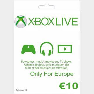 €10.00 Xbox Gift Card Key/Code 🇪🇺EURO Account