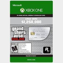 GTA V 5 Great White Shark Cash Card Xbox One (Global Code)