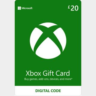 £20.00 Xbox Gift Card UK🇬🇧 [INSTANT DELIVERY]