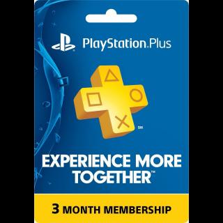 Psn Plus - 3 Months (US/ Canada /Mexico)