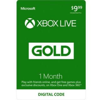 Xbox Live 1 Month Gold Membership 🇺🇸 [Digital Code]