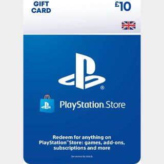 £10.00 Playstation Store UK 🇬🇧 [Instant Delivery]