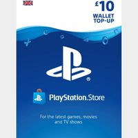 £10.00 Playstation Store 🇬🇧  Key/Code UK Account [𝐈𝐍𝐒𝐓𝐀𝐍𝐓 𝐃𝐄𝐋𝐈𝐕𝐄𝐑𝐘]