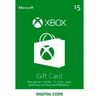 $5.00 Xbox Live US -Auto Delivery