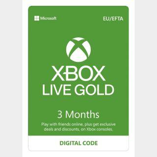 Xbox Live Gold – 3 Month Membership [Digital Download Code]