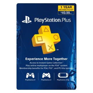 PSN Plus -12 Month (US/ Canada /Mexico) [Digital Code]