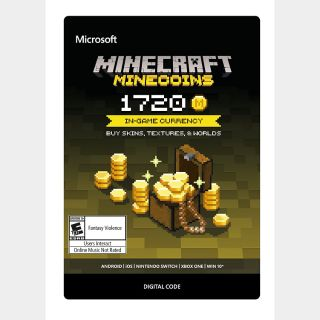 Minecraft: Minecoins Pack: 1720 Coins  [Digital Code]