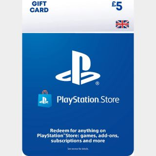 £5 GBP Playstation Store UK 🇬🇧[Instant Delivery]