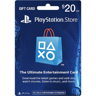 PSN $20 (USD) Gift Card - Instant Delivery 🇺🇸