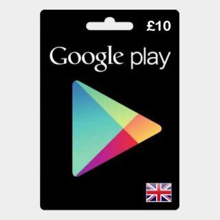 Google Play Gift Card - 10£ UK  🇬🇧