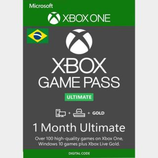 1 Month Xbox Game Pass Ultimate Xbox One / PC  (Brazil Region)