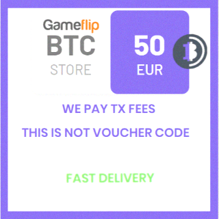 50 EUR (BTC) (XBT) Bitcoin Cryptocurrency / We pay TX fees (Priority) / Not voucher / Fast delivery