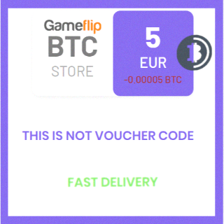 5 EUR (BTC) (XBT) Bitcoin Cryptocurrency / Not voucher / Fast delivery