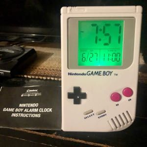Official Nintendo Game Boy Clock W/ Alarm and Instruction Booklet