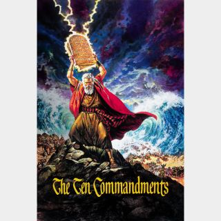 The Ten Commandments / 4K UHD / Vudu or iTunes via paramountdigitalcopy.com