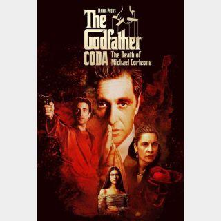 The Godfather, Coda: The Death of Michael Corleone / HD / Vudu / iTunes / Fandango