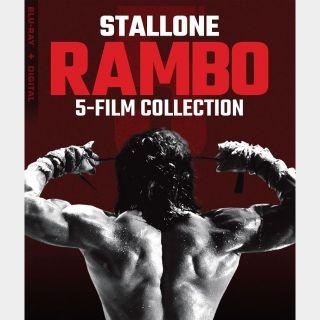 Rambo 5-Film Collection / 4K UHD / VUDU Redeem Only for 4K via movieredeem.com