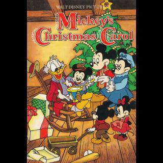 Mickey's Christmas Carol / HDX / Movies Anywhere / iTunes / VUDU