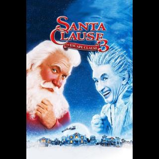 The Santa Clause 3: The Escape Clause / MA / HDX / Movies Anywhere / iTunes / VUDU