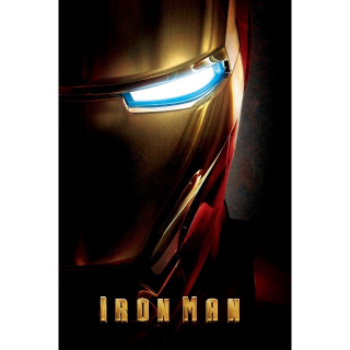 Iron Man - UHD 4K on MA - DMR Points NOT Included - NOT Split