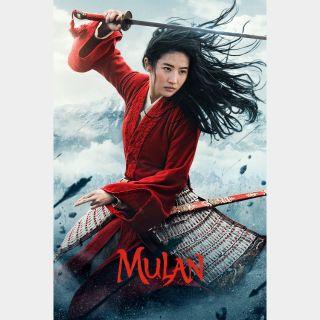 Mulan (2020) / 4K UHD / Movies Anywhere / VUDU / FandangoNow
