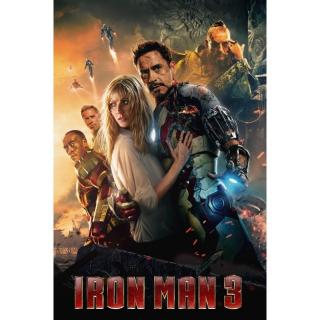 Iron Man 3 / UHD 4K / MA / No DMR Points