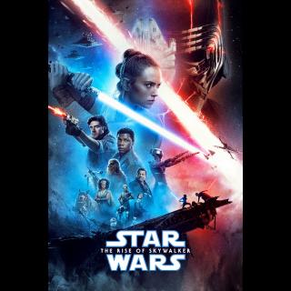 Star Wars: The Rise of Skywalker / HD / Movies Anywhere / iTunes / VUDU /