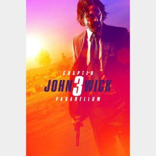 John Wick: Chapter 3 – Parabellum / 4K UHD / Vudu / iTunes / Google Play / Fandango