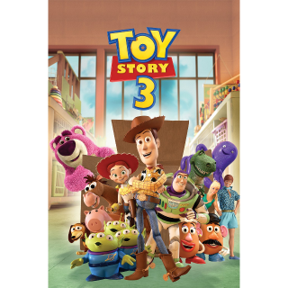 Toy Story 3 --HD on MA - Code Not Split - DMR Points NOT Included