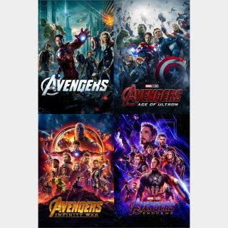 The Avengers - 4-Film Collection / Google Play / HD