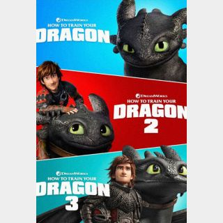 How to Train Your Dragon Trilogy / MA / HD / All THREE Films