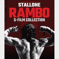 Rambo 5-Film Collection / 4K UHD / Vudu via movieredeem.com