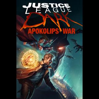 Justice League Dark: Apokolips War / 4K UHD / MoviesAnywhere or Vudu with WB.com/redeemmovie