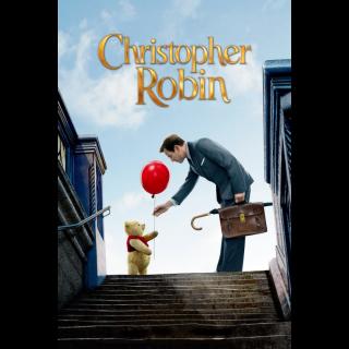 Christopher Robin / HDX / Movies Anywhere / iTunes / VUDU