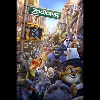 Zootopia / 4K UHD / Movies Anywhere / VUDU