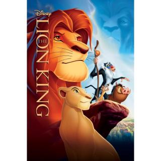 The Lion King / MA / 4K UHD - No DMR Points