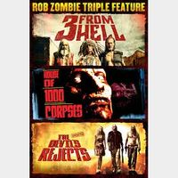 Rob Zombie Trilogy - 3 From Hell, House of 1,000 Corpses, and The Devil's Rejects / HDX / Vudu via movieredeem.com