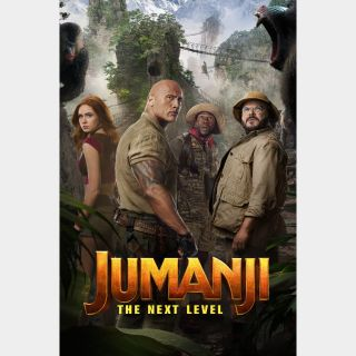 Jumanji: Welcome to the Jungle AND The Next Level / HD / Movies Anywhere