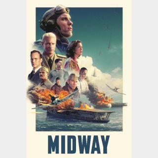 Midway / 4K UHD / Vudu / iTunes / Google Play / Fandango all via movieredeem.com