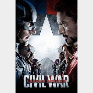 Captain America: Civil War / HD / Movies Anywhere / iTunes / VUDU
