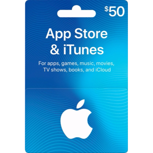 Apple - $50 App Store & iTunes Gift Card