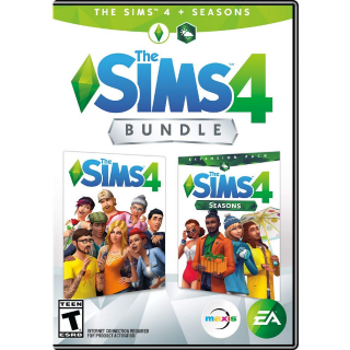 Sims 4 PLUS Seasons Bundle [ PC / Origin ] [ Full Game Key ] [ Region: U.S. ] [ Instant Delivery ]