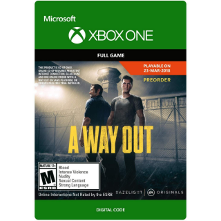 A Way Out [ Microsoft Xbox One ] [ Full Game Key ] [ Region: U.S. ] [ Instant Delivery ]