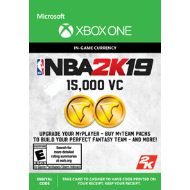 NBA 2K19 15,000 Virtual Currency VC [ Microsoft Xbox One ] [ In-game Currency Key ] [ Region: U.S. ] [ Instant Delivery ]